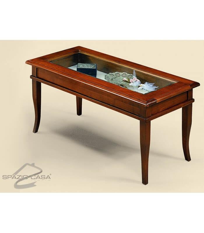 Tavolino bacheca rettangolare in legno - Tavolini poltrone sofa ...