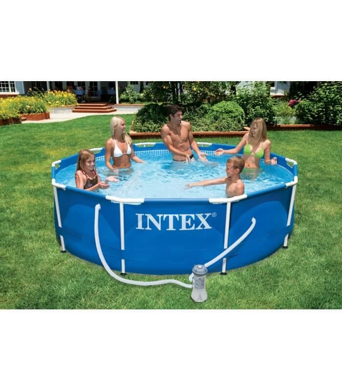 Piscina fuori terra da giardino esterno con struttura for Comprare piscina