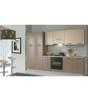 Cucina moderna 3 metri bicolore Larice grigio, Pino larice