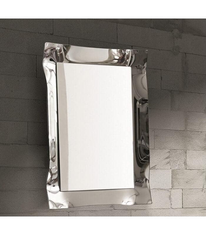 Specchio moderno da parete con cornice argento for Specchio da parete argento