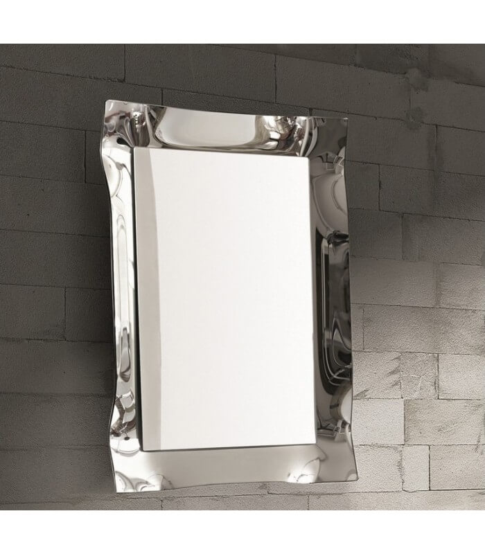 Specchio Moderno Parete Cornice Argento