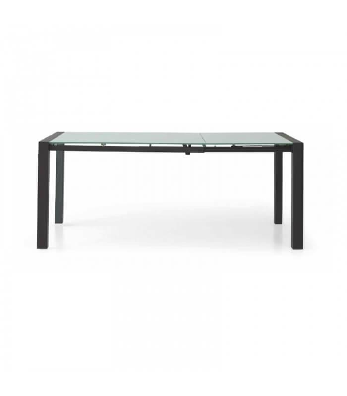 Tavolo moderno con piano in vetro e struttura in acciaio for Tavolo vetro moderno