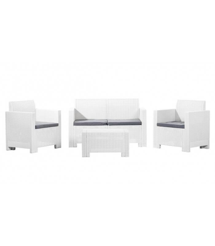 Salottini In Rattan Offerte.Salotto Set Sofa Per Esterno Effetto Rattan In Polipropilene 4