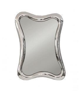 Specchio con Cornice Ondulata in Vetro