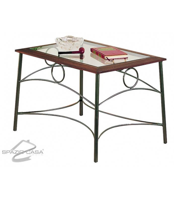 Tavolino stile liberty in ferro battuto for Complementi d arredo ferro battuto