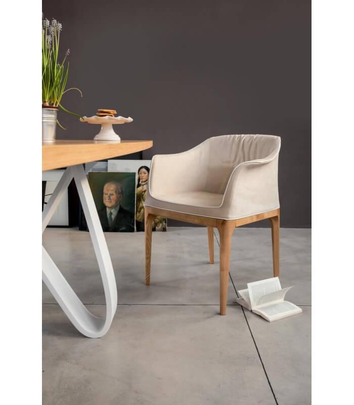poltroncina sedia design moderno mivida tonin casa