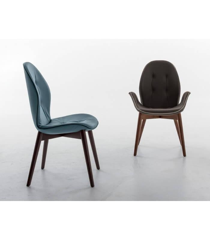 Sedie Imbottite Design.Sedia Imbottita Design Moderno Sorrento Tonin Casa