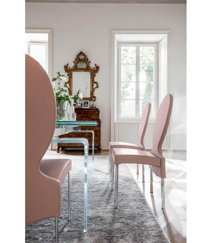 sedia salotto schienale alto design moderno vivienne tonin casa. Black Bedroom Furniture Sets. Home Design Ideas