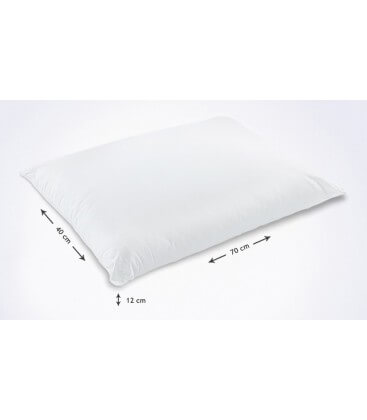 Cuscino modello saponetta in fibra 70 x 40 cm H. 12 cm
