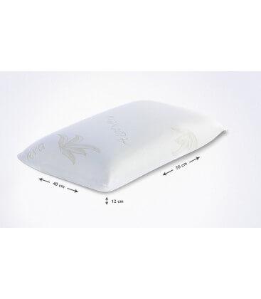 Cuscino modello saponetta in lattice e aloe 70 x 40 cm H. 12 cm