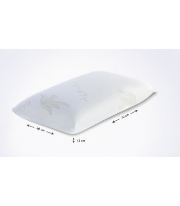 Cuscino modello saponetta in memory e aloe 70 x 40 cm H. 13 cm