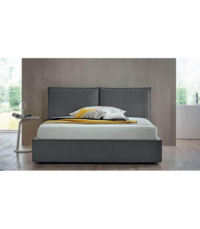 Letto contenitore testata imbottita 2 cuscini george felis - Testata letto cuscini ...