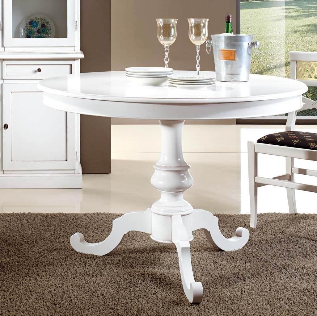 Tavolo rotondo allungabile - Tavolo rotondo allungabile bianco ...