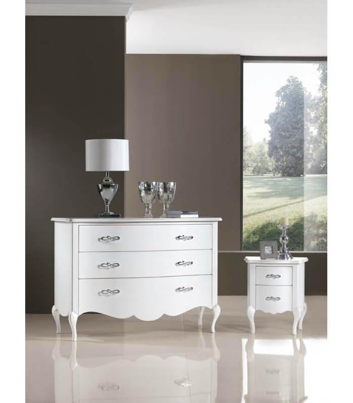 Trittico classico per camera da letto com 2 comodini - Specchi particolari per camera da letto ...