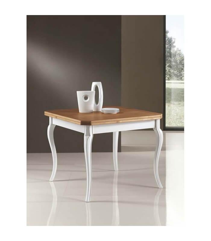 Tavolo in legno a libro con piede a sciabola - Spazio Casa