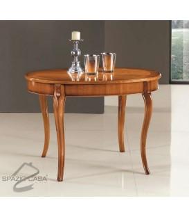 Tavolo ovale in legno di ciliegio allungabile