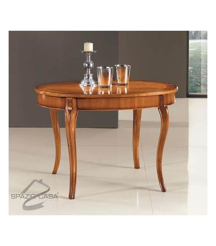 Tavolo Ovale Legno Ciliegio Allungabile