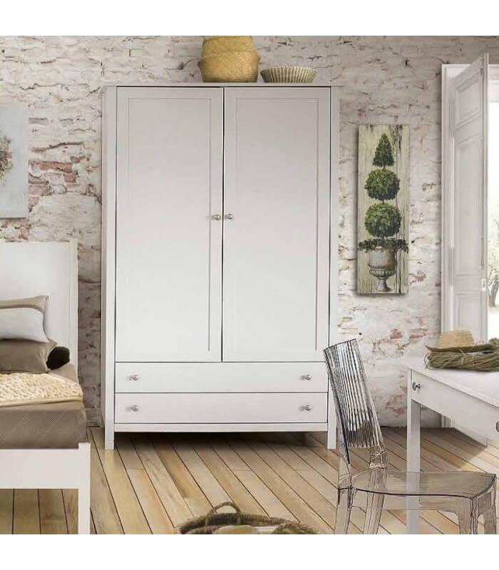 armadio cameretta legno 2 ante 2 cassetti