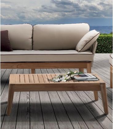 Tavolino Dakota in legno di teak per esterno