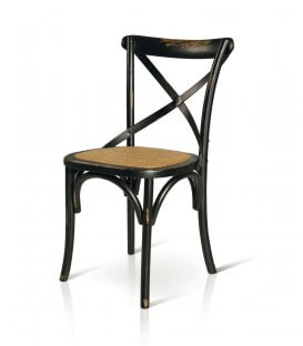 Sedia in legno Milani vintage