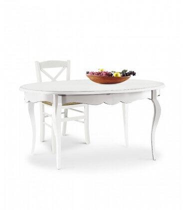 Tavolo ovale allungabile 160x110