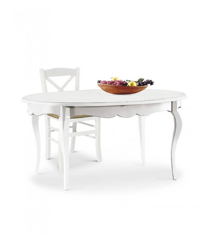 Tavolo ovale allungabile 160x110 spazio casa for Tavolo ovale in vetro allungabile