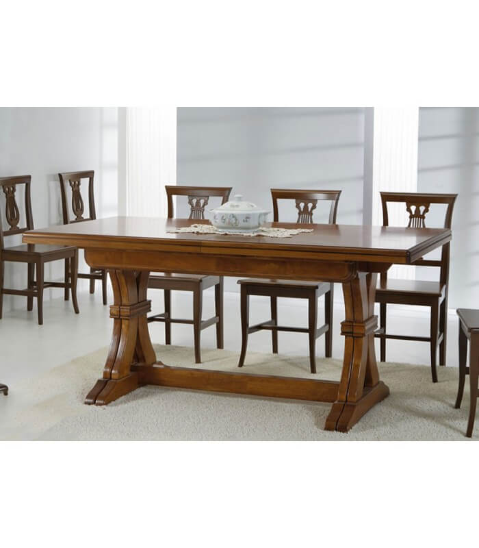 Tavolo legno classico allungabile - Tavolo consolle allungabile stile classico ...