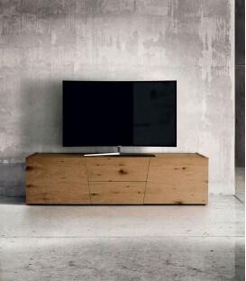 Porta TV rovere nodato spazzolato