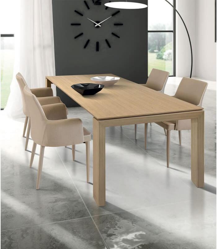 Tavolo in legno naturale allungabile spazio casa - Tavolo legno naturale ...