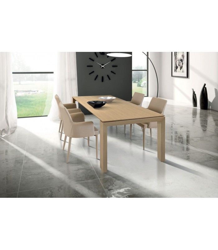 Tavolo in legno naturale allungabile spazio casa for Tavolo legno naturale