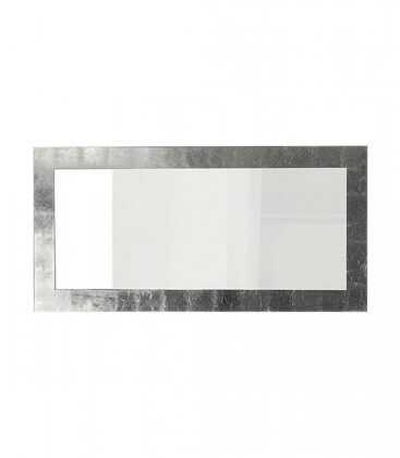 Specchio da parete moderno foglia argento