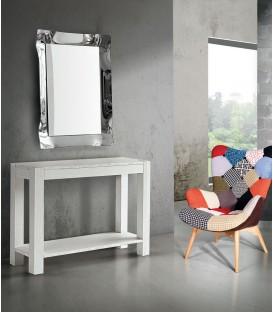 Consolle moderna in Abete Bianco Spazzolato