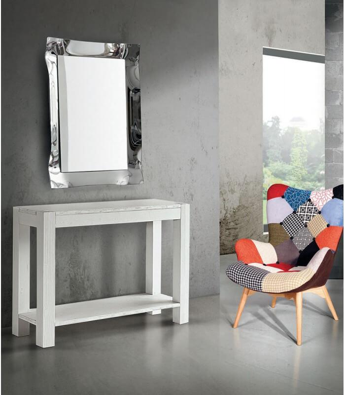 Specchio moderno parete cornice argento for Specchio da parete argento