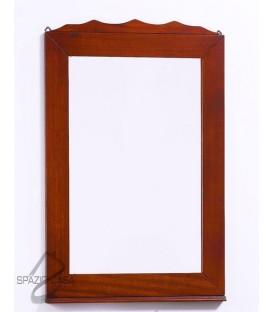 Specchio in Legno con Corona