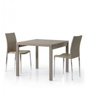 Tavolo quadrato tortora