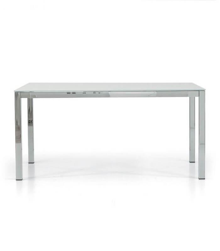 Tavolo rettangolare allungabile con piano in vetro - Tavolo rettangolare allungabile ...
