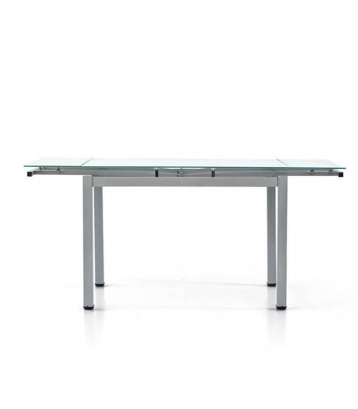 Tavolo rettangolare con piano in vetro allungabile - Tavolo rettangolare allungabile ...