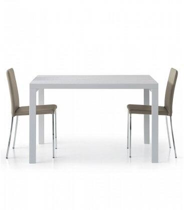 Tavolo rettangolare bianco frassinato