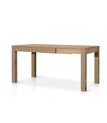 Tavolo 110x80 in legno rovere naturale spazzolato - Tavolo in rovere naturale ...