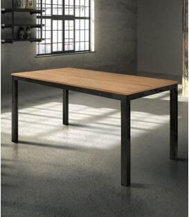 Tavolo rovere con struttura in metallo