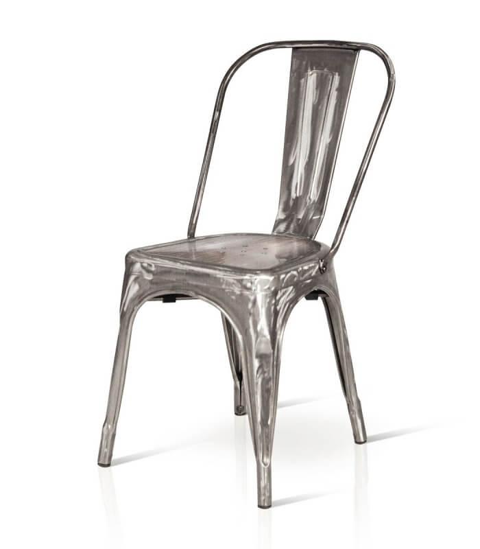 sedia stile industry in ferro spazio casa
