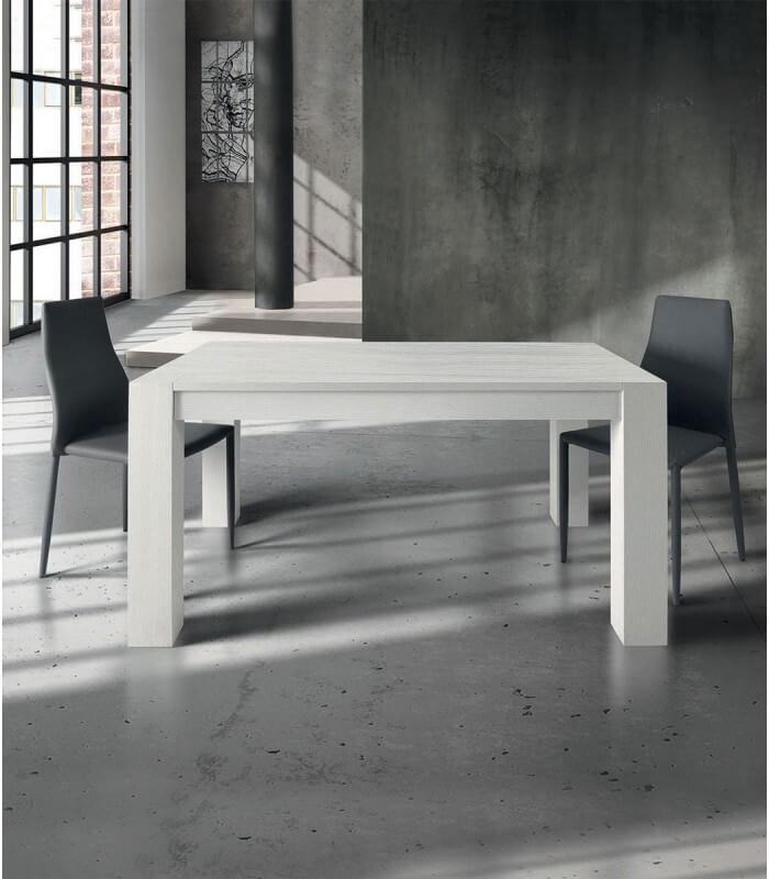 Tavolo rovere spazzolato bianco allungabile spazio casa for Tavolo rovere allungabile