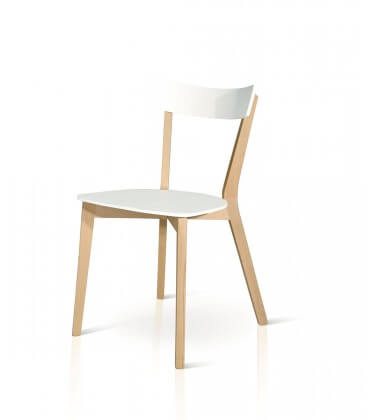 Sedia minimal da cucina in legno