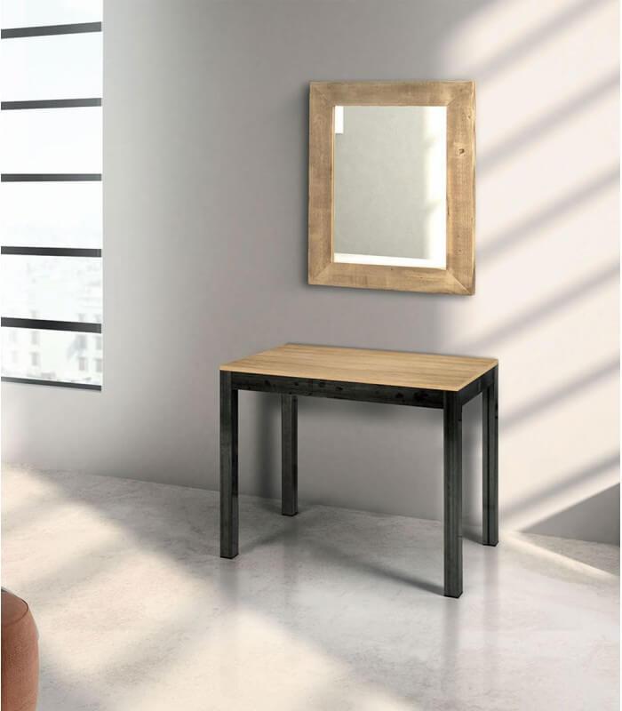 Consolle allungabile piano in legno rovere spazio casa - Tavolo consolle allungabile legno ...