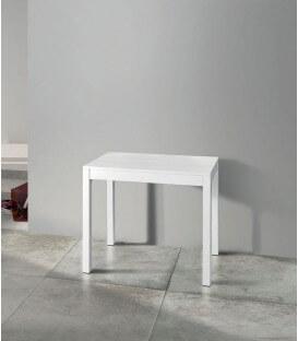 Consolle allungabile bianca piano bianco frassinato