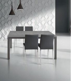 Tavolo allungabile grigio moderno