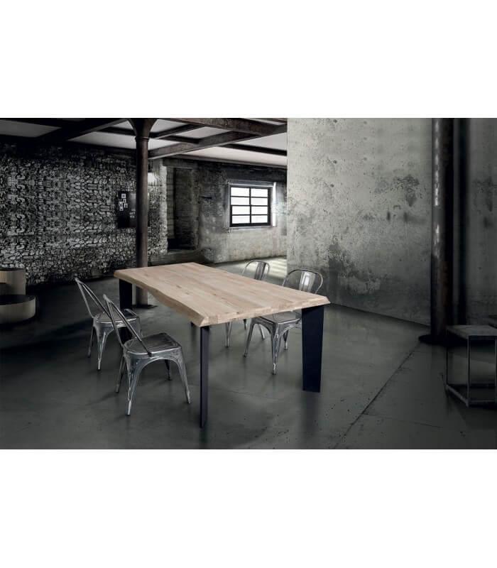 Tavolo moderno industry in legno massello   eBay