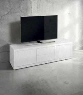 Porta TV Moderno in Legno bianco frassinato
