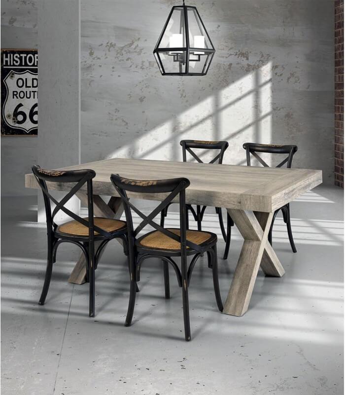 Tavolo in legno invecchiato spazio casa for Tavolo legno invecchiato