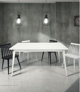 Tavolo moderno in Legno di Abete spazzolato